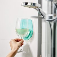 LNCDISPlastic Wine Glass Holder For The Bath Shower Red Wine Glass Holder GN