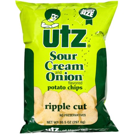 upc 041780000682 utz sour potato chips cream and onion ripple cut 10 ounce. Black Bedroom Furniture Sets. Home Design Ideas