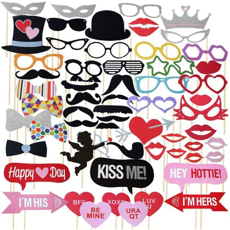 50-Pieces Photo Booth Props for Her Him Funny DIY Birthday Party Decorations, Birthday Party Supplies for Men & Women