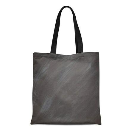 ASHLEIGH Canvas Tote Bag Gray Chalk Chalkboard Blackboard Retro Charcoal Board Reusable Handbag Shoulder Grocery Shopping Bags
