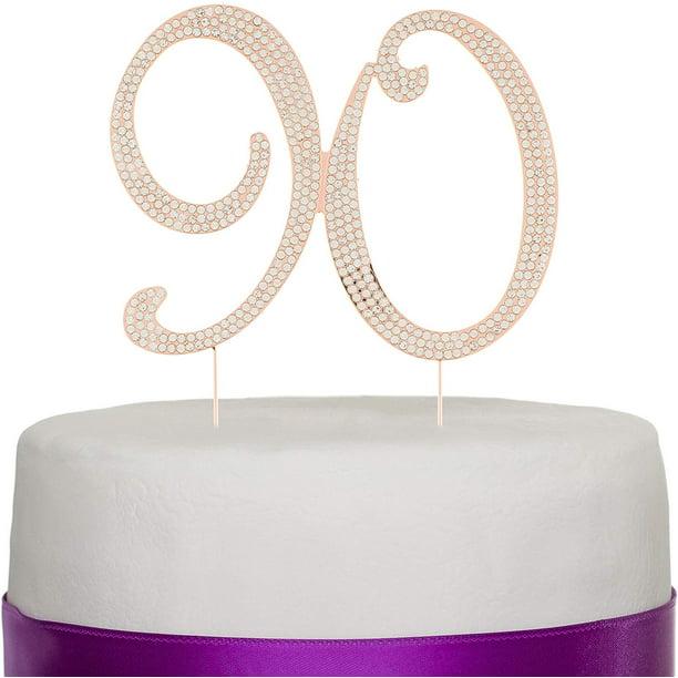 Terrific Ella Celebration 90 Cake Topper For 90Th Birthday Rhinestone Personalised Birthday Cards Veneteletsinfo