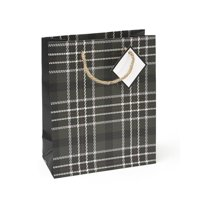 Mara-Mi Hunter Green Plaid Small Gift Bag