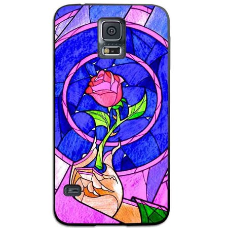 Ganma beauty and the beast red rose in stained glass Case For Samsung Galaxy Case (Case For Samsung Galaxy S5