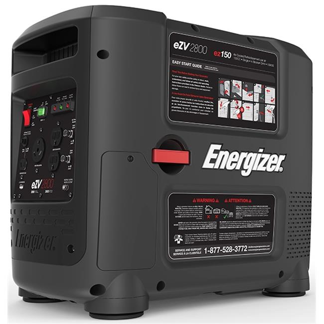 Energizer eZV2800 2800W Portable Inverter Generator - CARB Approved