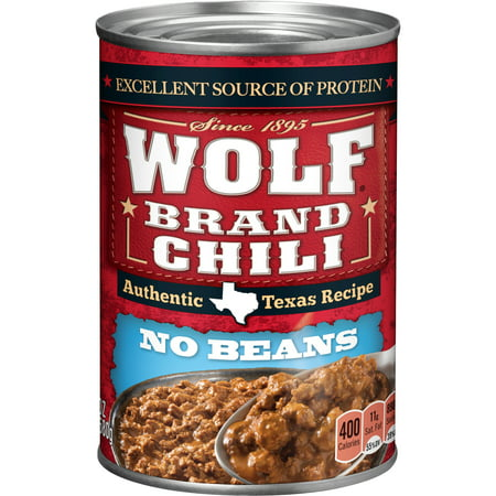 (6 Pack) Wolf Brand Chili Without Beans, 24 Ounce (Best Chili Without Beans)