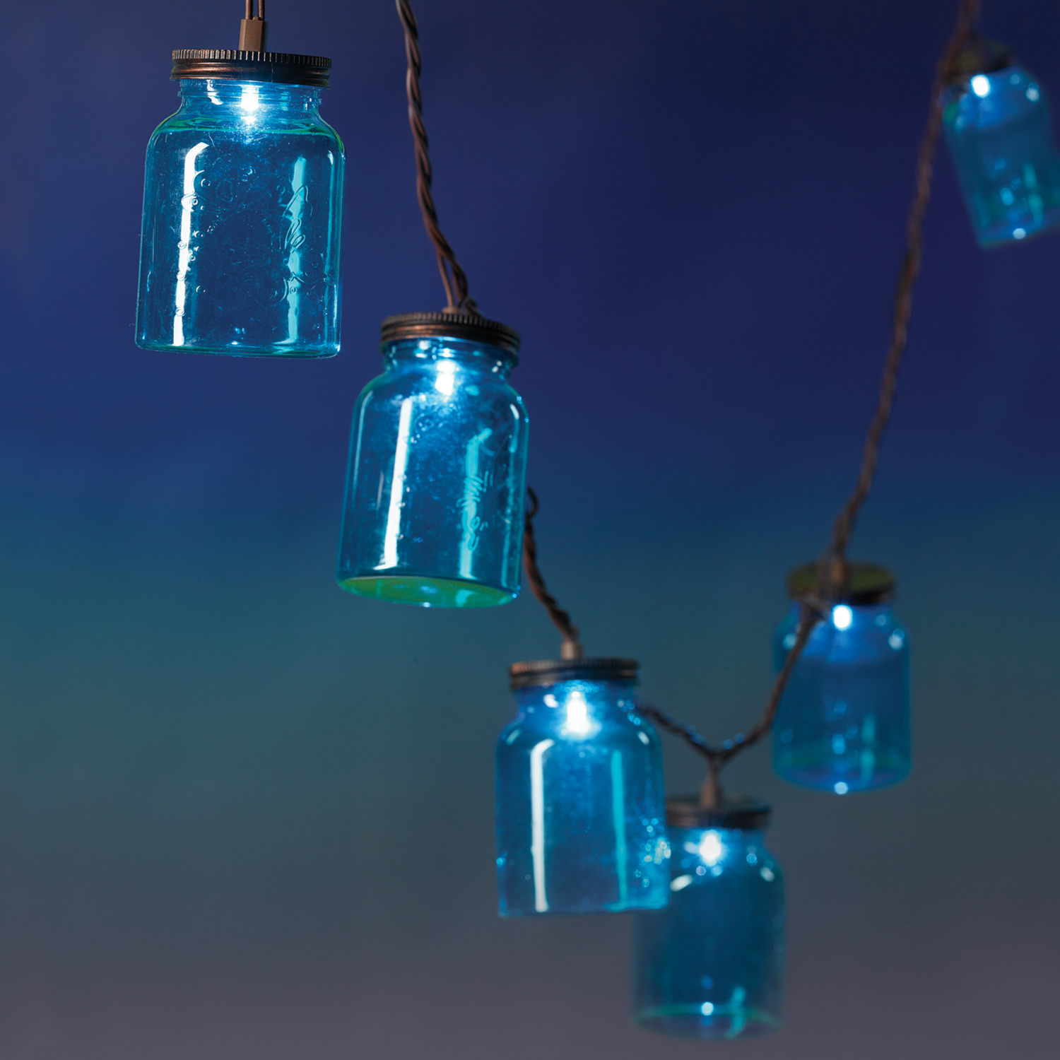 10ct String to String LED Mason Jar Light Set