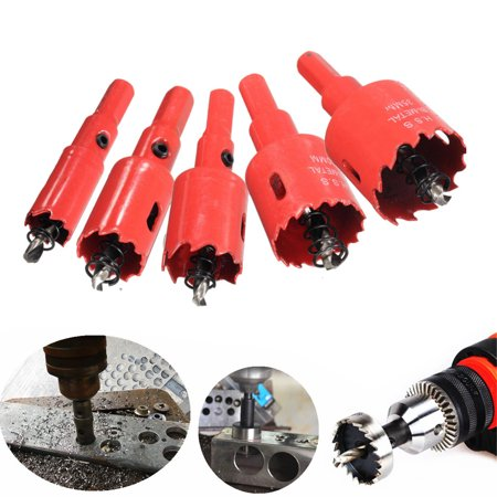 Grtsunsea 5-Pack 16-35mm High Speed Steel M42 HSS Cutter Hole Saw Holesaw Bit Drilling Coated Hole Tooth Woodworking Metal Steel Father