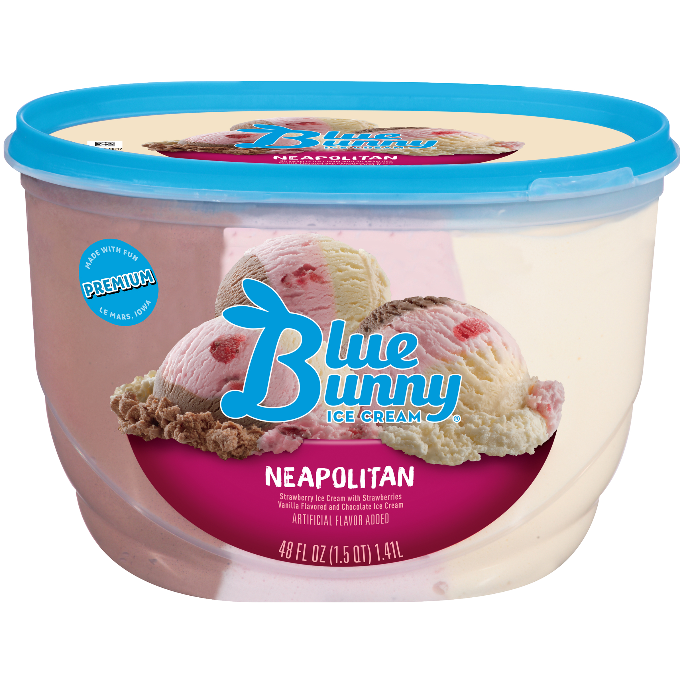 Blue Bunny Neapolitan Ice Cream, 48 fl oz