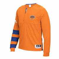Men's adidas Orange New York Knicks 2016 On-Court Shooter Long Sleeve T-Shirt