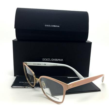 Dolce   Gabbana New Authentic Peach Pale Gold Powder Women Eyeglasses Dg1282 1291 53 17 140