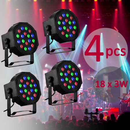 Club Dj Cartridge (4PCS 18x3W LED PAR Light RGB DJ Stage Lighting DMX512 Party Club Bar )