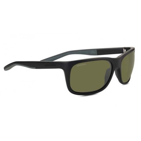 Serengeti Classic Sunglasses - Sunglasses Ettore Sanded Black/Grey Polarized 555NM Green Lens