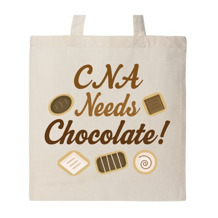 Nurse Assistant Funny CNA Needs Chocolate Tote Bag Natural One Size - Cna Bags