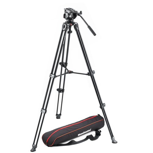 Manfrotto MVK500AM Lightweight Fluid Video System with Twin Legs and Middle Spreader