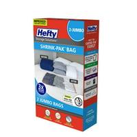 Hefty SHRINK-PAK 2 Jumbo Vacuum Storage Bags