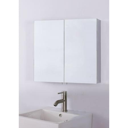 Bellaterra Home Double Door Mirrored Medicine (Mirror Door Medicine Cabinet)