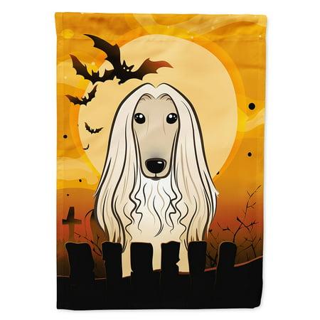 Halloween Afghan Hound Garden Flag (Release The Hounds Halloween)