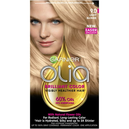 Garnier Olia Oil Powered Permanent Hair Color 9.0 Light (Garnier Olia Permanent Hair Colour 7-0 Dark Blonde)