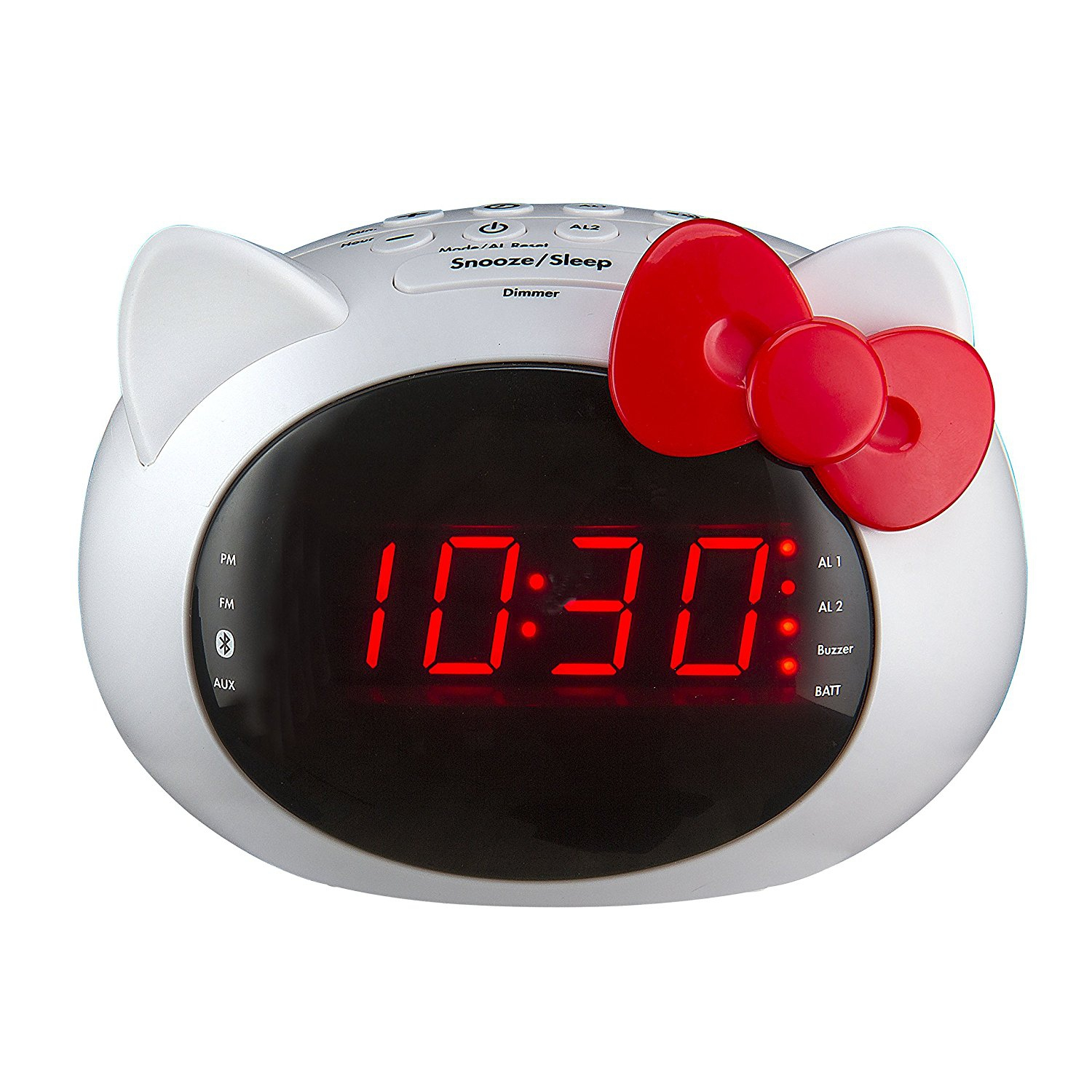 KIDdesigns iHome Hello Kitty Bluetooth Dual Alarm Clock Radio Speaker (Si-B62.FX)