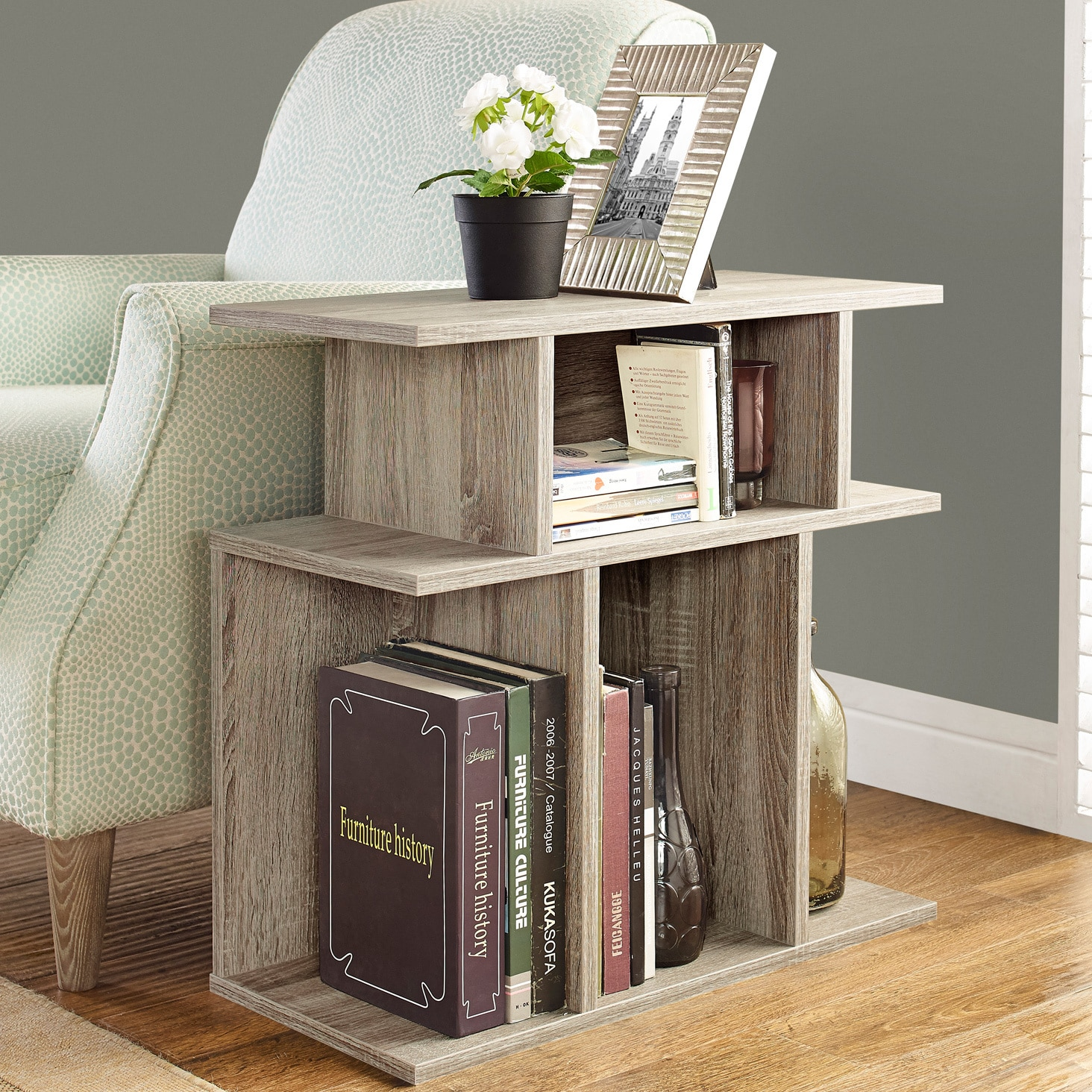Porch & Den Lochwood Brookmeadow 24-inch Dark Taupe Accent Table
