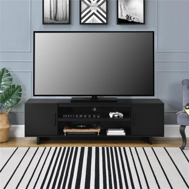 "Ameriwood Home Southlander TV Stand for TVs up to 65"" in Black Oak"