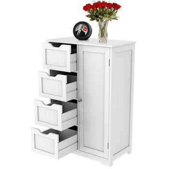 Yaheetech 610648 Wooden Bathroom Floor Cabinet