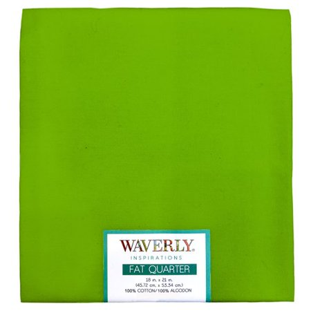 "Waverly Inspirations Cotton 18"" x 21"" Fat Quarter Bright Green Lime Print Fabric, 1 Each"