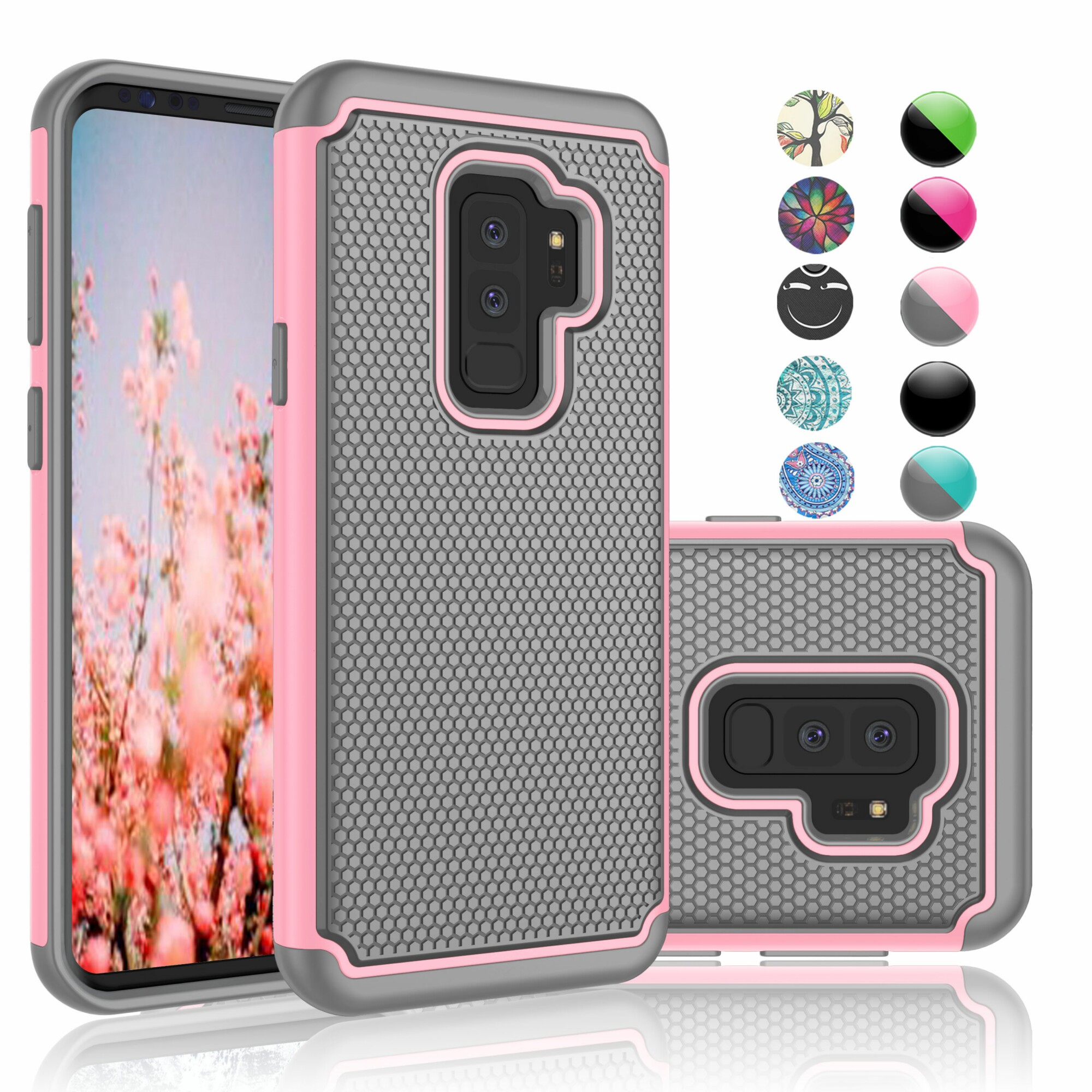 Samsung Galaxy S9 Plus Case, S9 Plus Case For Girls, Njjex [Shock Absorption] Drop Protection Hybrid Dual Layer Armor Defender Protective Case Cover For Samsung Galaxy S9 Plus -Baby Pink