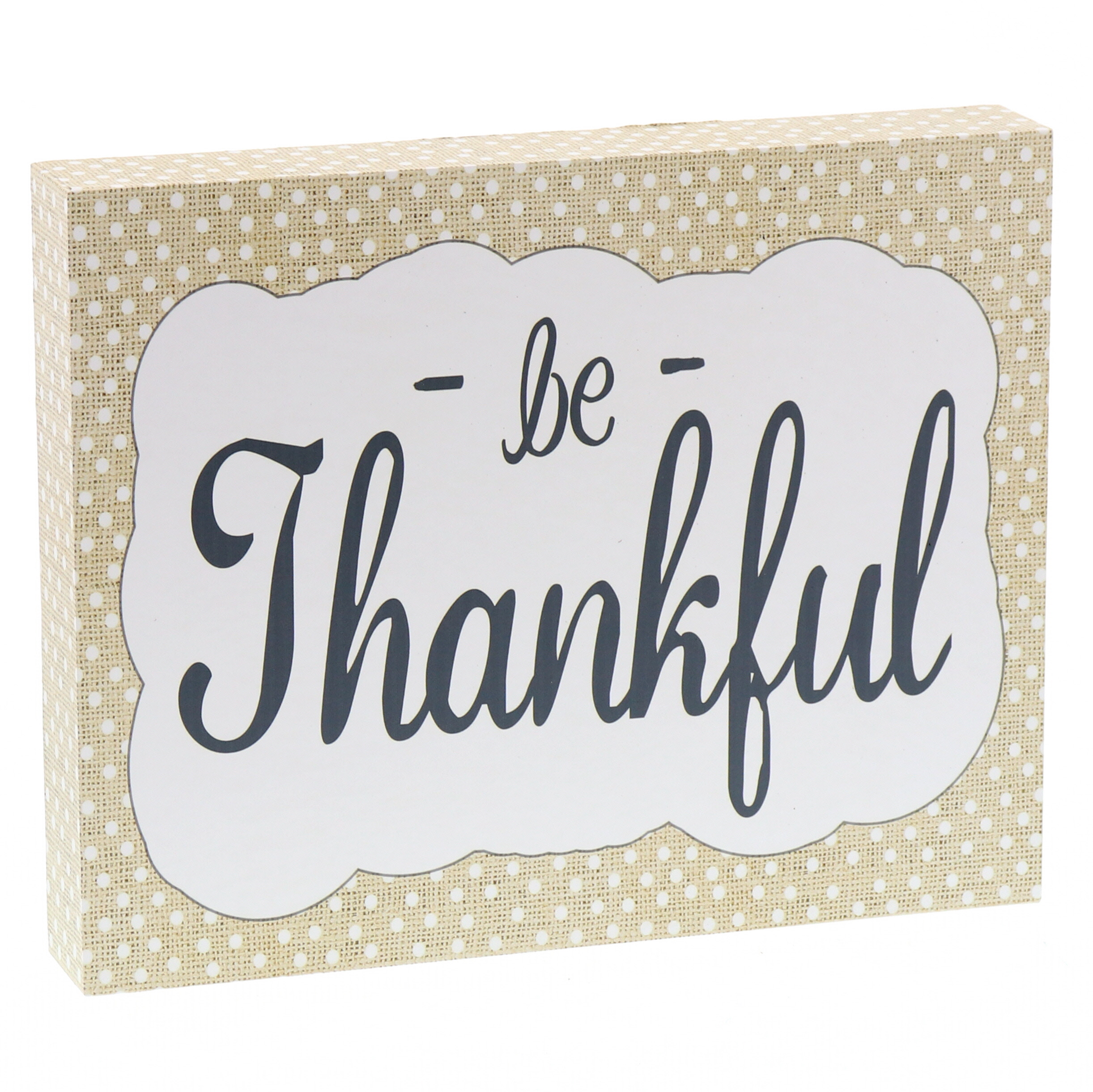 Barnyard Designs Be Thankful Wooden Box Wall Art Sign Primitive