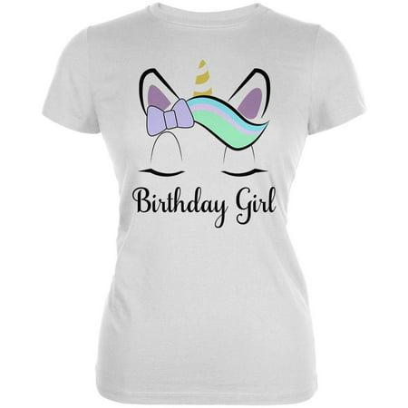 Birthday Girl Unicorn Juniors Soft T (New Junior Girl)