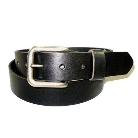 "Handmade Premium Solid Bridle Leather Belt - 1-1/4"" / Black / 34"