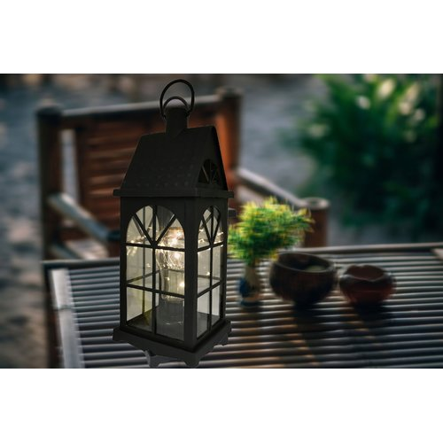 Charlton Home Maryam Battery-Operated 1-Light LED Outdoor Hanging Lantern
