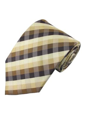 a34da211bd31 Product Image Men's Clip-on Brown & Beige Plaid Tie. Absolute Stores
