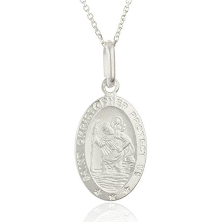 Real 925 Sterling Silver Saint Christopher