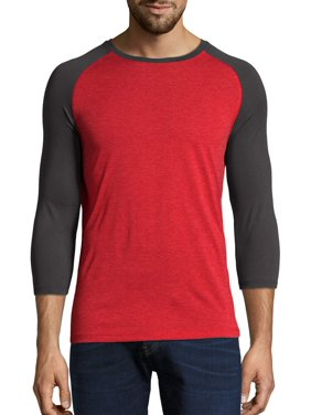 Hanes Men's and Big Men's Performance Baseball Tee, Up To Size 2XL