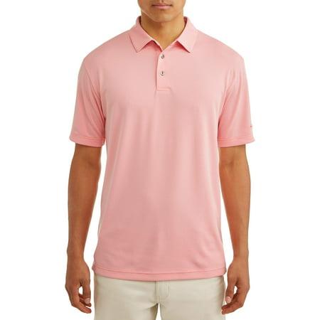 - Ben Hogan Men's Short Sleeve Mini Geo Jacquard Polo Shirt