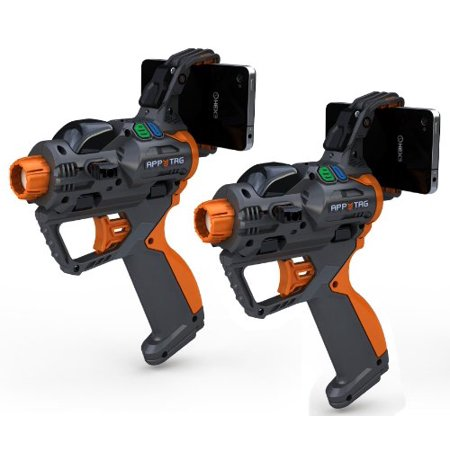 2-pack HEX3 AppTag Laser Blaster for iPhone, iPod Touch, and Android Phones (Fits most Nerf