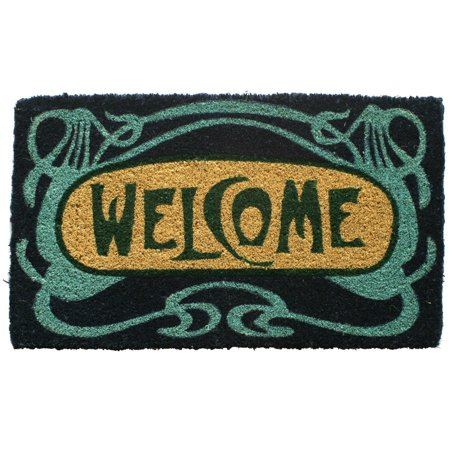 Art Deco Welcome Hand Woven Coir Door - Art Deco Door
