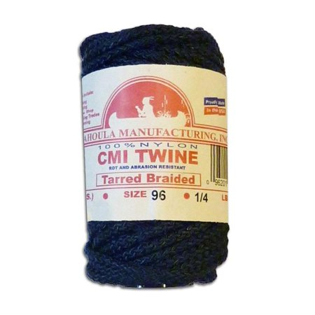 50' Manufacturing #96 Tarred Braided Nylon Twine (Bank Line) 810 lb Tensile Strength, Braided instead of twisted; this means the cord does not unravel easily By Catahoula thumbnail