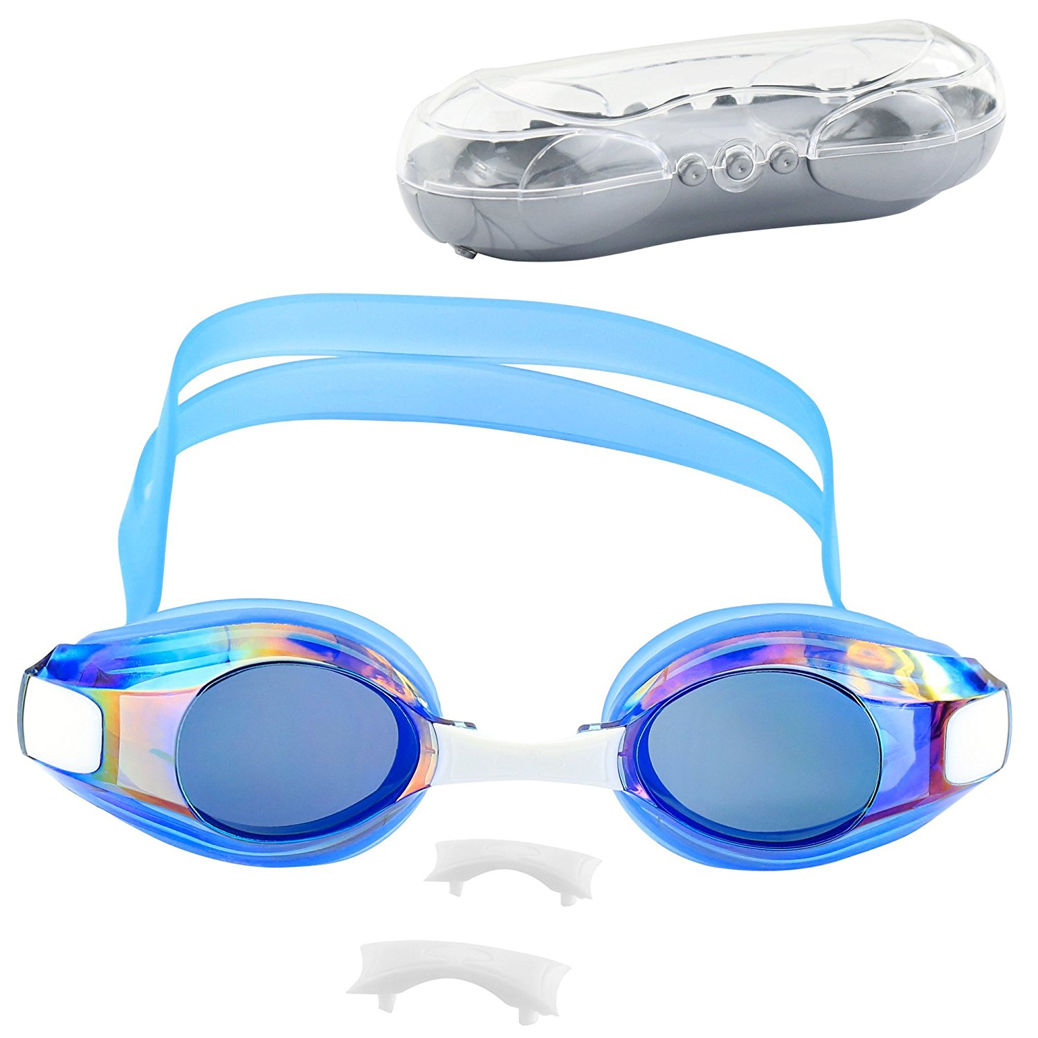 IPOW Professional Swim Goggle Mirrored Coated Anti-fog UV Protection No Leaking Waterproof Swimming Glasses Wide View... by IPOW