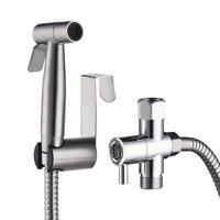 Women Men Handheld Bidet Sprayer Bathroom Cloth Diaper Sprayer Kit Stainless Steel Toilet Spray