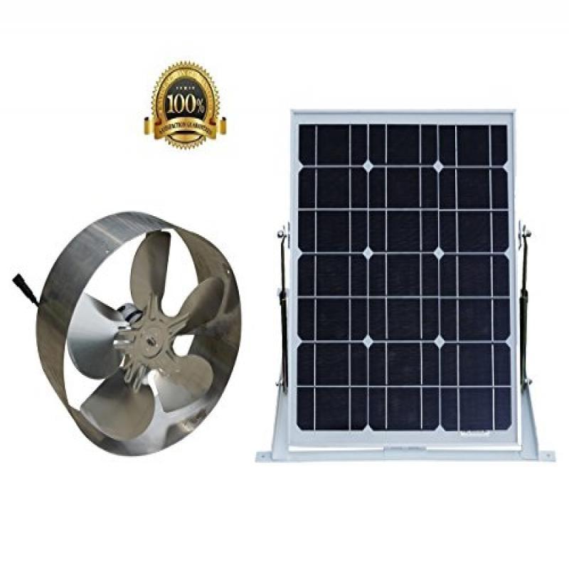 Solar Power Attic Gable Roof Vent Brushless DC Motor 1720...
