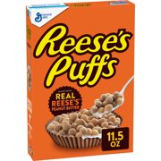 Reese's Puffs Cereal, Chocolate Peanut Butter, with Whole Grain, 11.5 oz