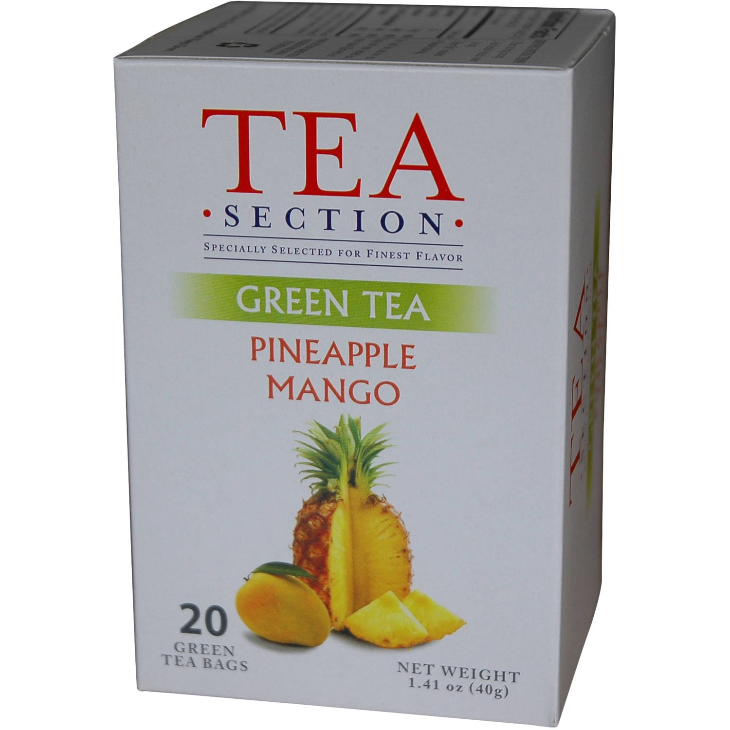 Tea Section Pineapple Mango Green Tea Bags, 20 count, 1.41 oz