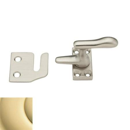 Baldwin 0492031 Casement Fastener With Rim Strike Unlacquered Brass Finish (Unlacquered Brass)