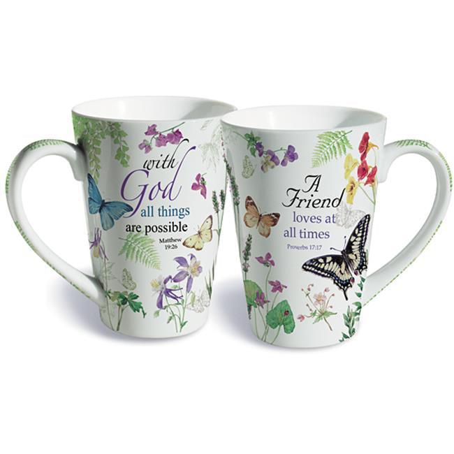 Lissom Design 35105 Porcelain Mug - Friend