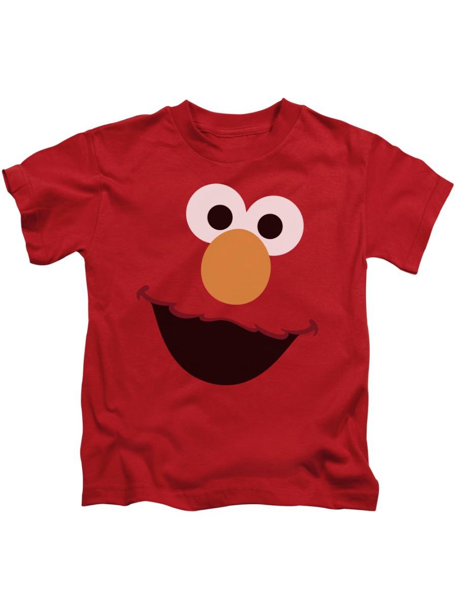 Trevco SESAME STREET ELMO FACE Red Child Unisex T-Shirt