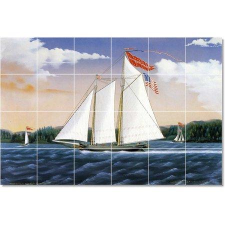 Ceramic Tile Mural James Bard Ships Tile Mural Commercial Constructio