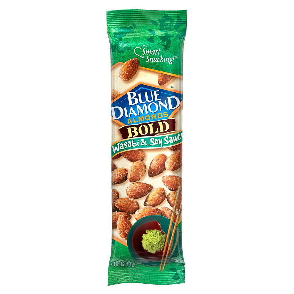 Blue Diamond Almonds, Bold Wasabi & Soy Sauce, 1.5 oz. bas (12 pack)