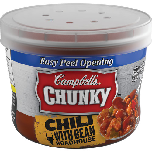 Campbell's Chunky Chili with Bean Roadhouse Microwavable Bowl, 15.25 oz.